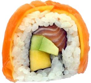Salmon Mango Rainbow