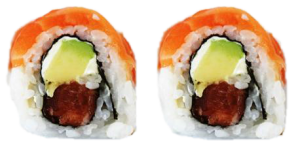 Tuna-Avocado-Salmon Roll