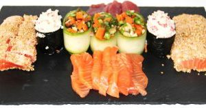 Sashimi and Warm Salmon