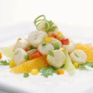 Ceviche mit Scallops und Ingwer